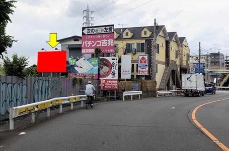 尻手黒川道路・「末吉橋」交差点手前