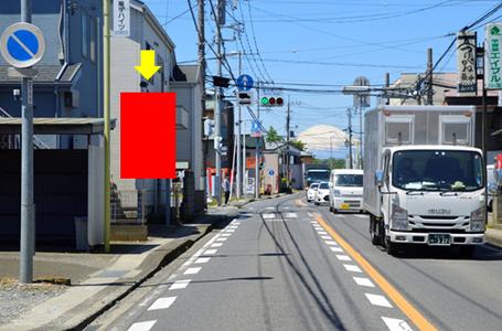 平塚秦野線「観音橋入口」交差点・遠景