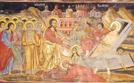 Jésus pleure la mort de Lazare