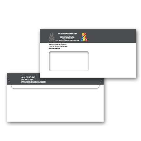 Briefumschläge, plan2 werbeagentur metelen