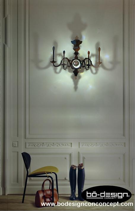 applique murale baroque,applique murale chandelier,applique murale 17e siecle,versailles,applique murale hotel,amenagement hotel,amenagement restaurant,luminaire chambre d'hotes,luminaire design,louis XV,luminaire designer,luminaire baroque