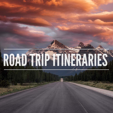 Road trip itineraries through Canadian provinces of Alberta and British Columbia