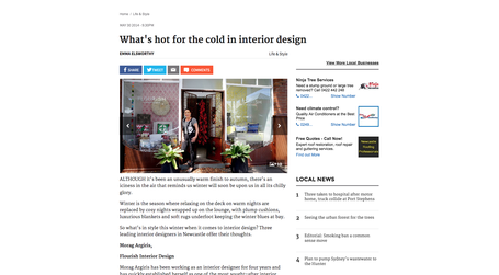 Herald Article Flourish Interior Design May 2013