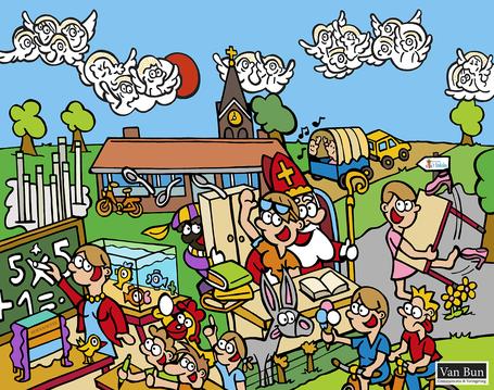 Dirk Van Bun Communicatie & Vormgeving - Illustraties - originele tekening - particulieren - uniek geschenk - gepersonaliseerd - op maat van uw activiteiten - canvas - Lommel