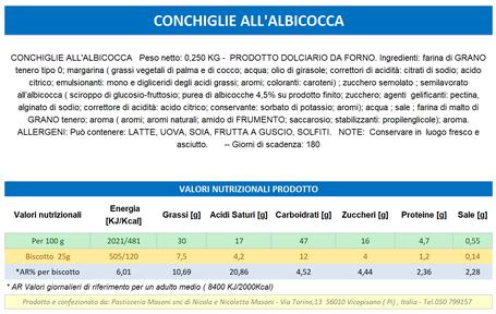 VENDITA ONLINE PRODOTTI TOSCANI ARTIGINALI - CONCHIGLIE ALBICOCCA - Pasticceria Masoni Vicopisano