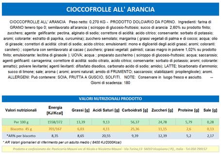PRODOTTI TOSCANI - CIOCCOFROLLE ALL'ARANCIA - Pasticceria Masoni Vicopisano prodotti masoni #pasticceiamasoni, shop online