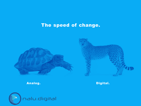 Speed of change.