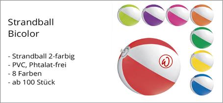Strandball Aktion günstig mit Logo bedruckt