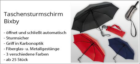 Regenschirm mit Logo günstig