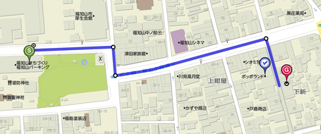 福知山パーキングからパソコン教室こころまで