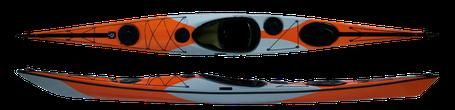 オレンジ グレー ウルトラマン カヤック