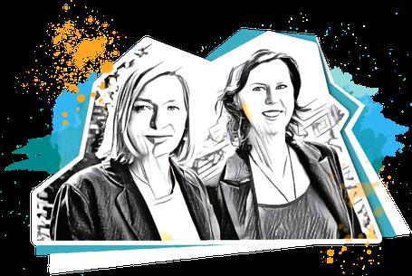 Porträt Regine Wagenblast und Susanne Alm-Hanke vom Team nextARTlevel