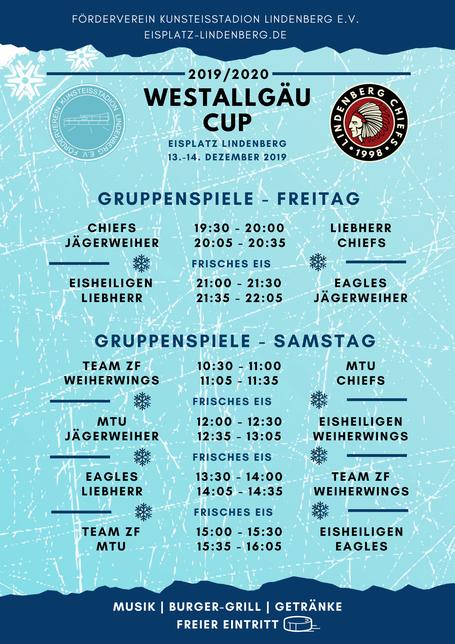 Spielplan Gruppenphase Westallgäu Cup 2019/2020
