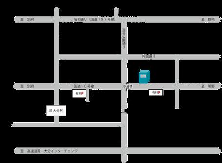 大分県商店街振興組合連合会簡易地図