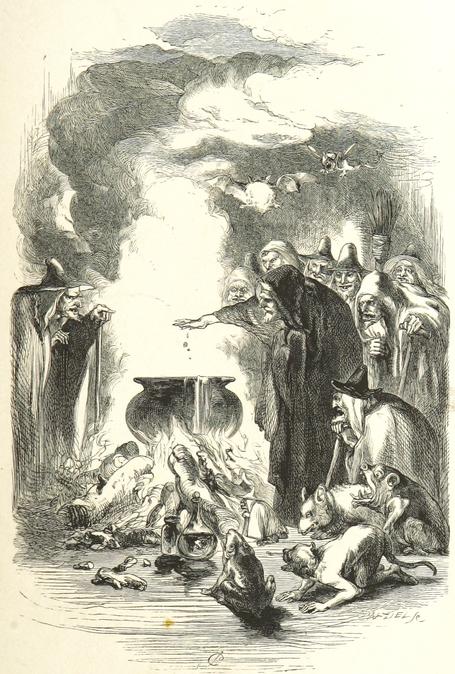 Symbolbild einer Hexenzusammenkunft - Volksglauben über Hexenerscheinungen in Sölden