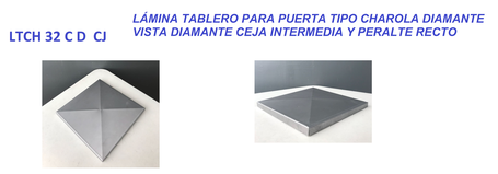 LAMINA TABLERO TIPO CHAROLA DIAMANTE CON CEJA INTERMEDIA Y PERALTE RECTO