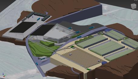 3D-Design der neuen Anlage