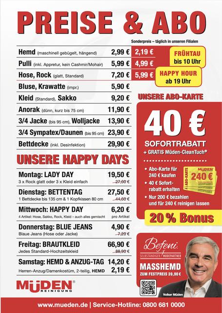mueden.de, aktuelle Werbung, Preise & Abo 2021