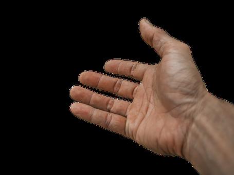Hand des Vertrauens