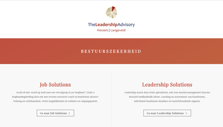 Website maken voor The Leadership Advisory