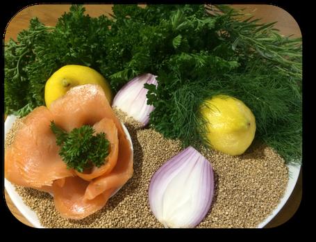 quinoa scandinave avec poissons fumés