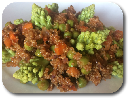quinoa et jardiniere de legumes