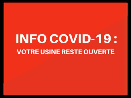 Micro-Technic à Crolles, près de Grenoble, s'adapte pour continuer suite pandémie coronavirus COVID-19