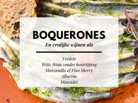 Welke wijn bij Boquerones