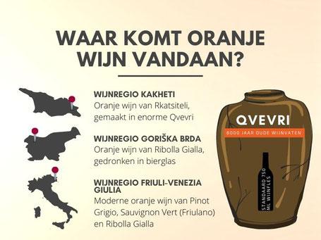 Waar komt oranje wijn vandaan