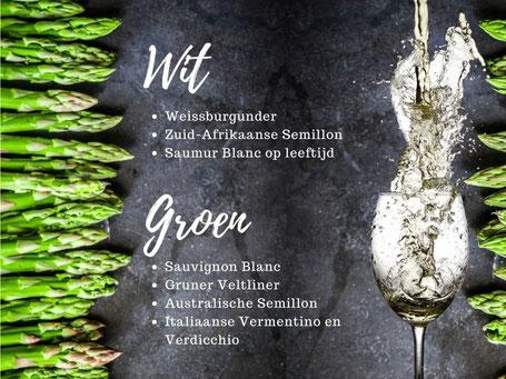 Welke wijn bij asperges