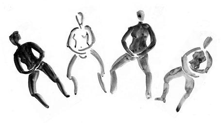 Zeichnung der Künstlerin Heike Reich