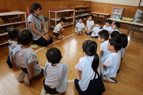 長尾聖母幼稚園 お集まりの様子