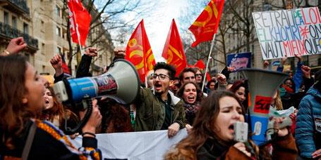 Første protester og generalstrejke d 6.  marts 2016