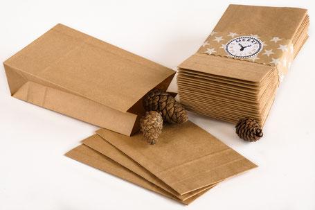 Papiertüten aus Kraftpapier mit Blockboden