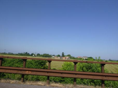 Italienische Landschaft, Poebene