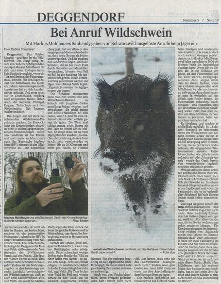 Quelle: PNP - Deggendorfer Zeitung, 08.01.2015