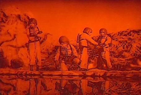 """Szenenfoto aus dem Film """"Weltraumschiff MR-1 gibt keine Antwort"""" (The Angry Red Planet, USA 1959) von Ib Melchior"""