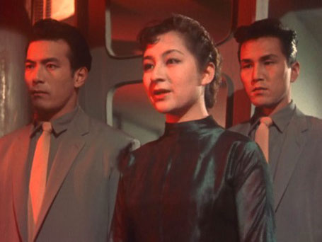"Szenenfoto aus dem Film ""Warning from Space"" (Uchujin Tokyo ni arawaru, Japan 1956) von Koji Shima; Toyomi Karita"