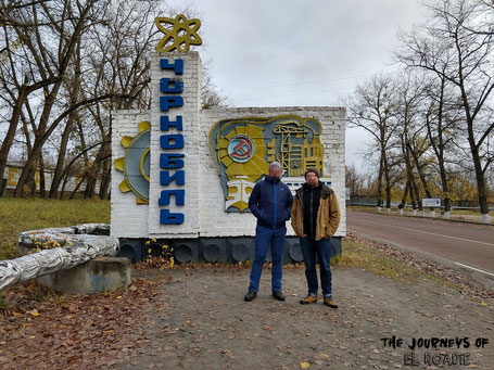 Tschernobyl Ortsschild