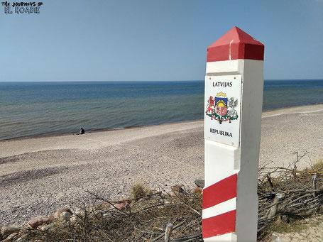 Litauen Grenze Lettland Ostsee Strand Baltikum Meer