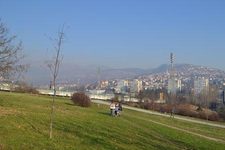 Asim-Ferhatovic-Hase Stadion im Stadtteil Kosevo Sarajevo