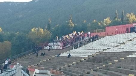 Zrinjski Mostar Ultras Pyro Stadion Bijelo Brijeg Stadion Horde Zla Sarajevo