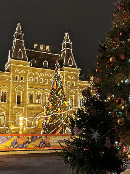 Weihnachtsmarkt auf dem Roten Platz