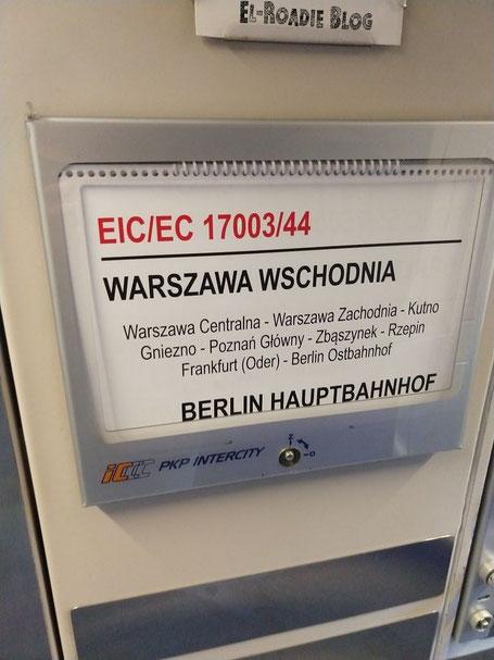 PKP Intercity Warszawa Warschau Poznan Posen Frankfurt Berlin