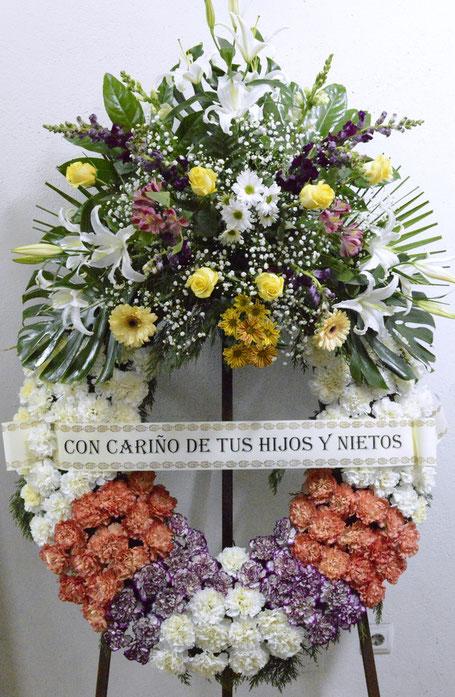 Corona flores floristería Madrid