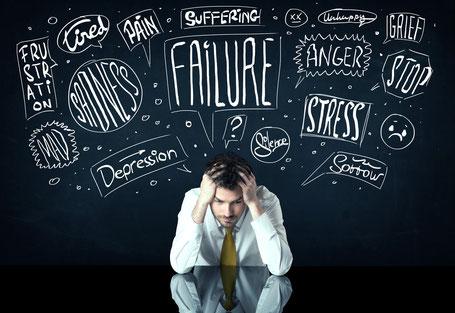 stress, haast, overspannen, burn-out, depressie, somber, piekeren, slaapproblemen, zorgen