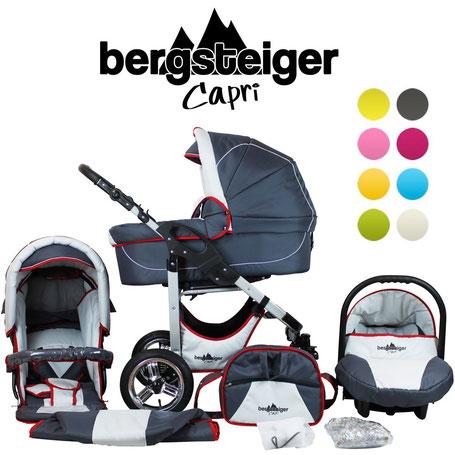 #test #baby #kinderwagen #bergsteiger #capri #testbericht #produkttest günstiger Kinderwagen Komplettwagen