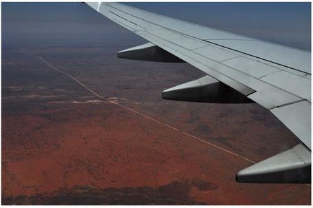 Australia, Australien, Reisebericht Australien, Flug Syndey-Alice Springs, Red Center, Alice Spring