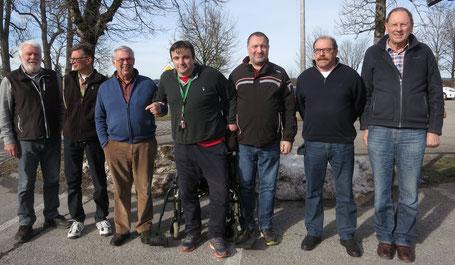 v.l. Werner Baierlacher (Referent), ein Penzberger, Lutz Nieland (Referent), Mario Kossak, Michael Alt, Bert Ober, Albert Vosseler.