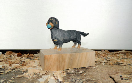 Hunde Portrait Figur - Dackel